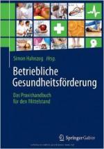 Hahnzog - Praxishandbuch Betriebliche Gesundheitsförderung